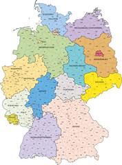Wall Mural - Deutschland, KFZ-Kennzeichen