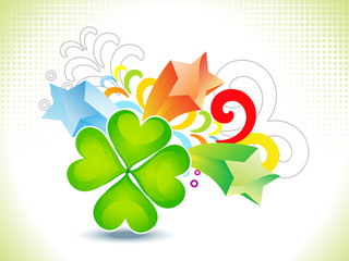 abstract st patrick theme background