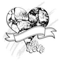 heart of stone vector