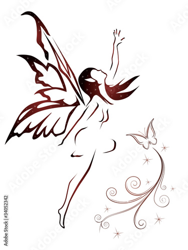 """abstract fairy vector"" Stock image and royalty-free"