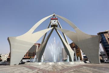 Tower Clock Roundabout in Dubai
