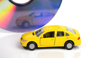 Toy car and DVD