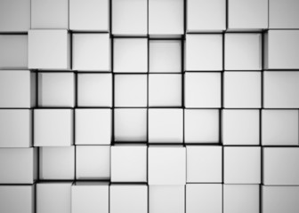 abstract background with 3d blocks