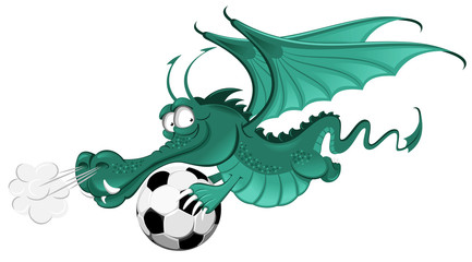 Dragon and soccer ball