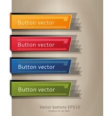 Button web vector colors
