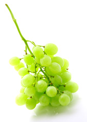 Image of green grape bunch isolated on white