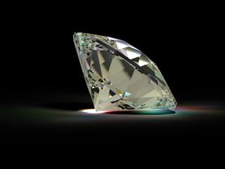 A large diamond on a black background №4