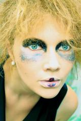 Beauty woman with art makeup