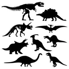 Dinosaur Silhouette Prehistoric Skeleton Bone