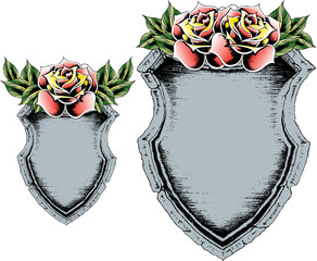classic rose shield