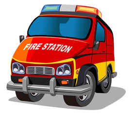 cartoon fire engine two