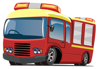 cartoon fire engine