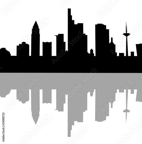 frankfurt skyline stockfotos und lizenzfreie bilder auf. Black Bedroom Furniture Sets. Home Design Ideas