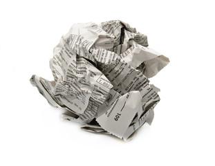 In de dag Kranten crumpled newspaper