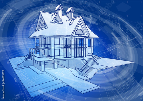 Architecture Design House Blueprint Plan Stock Image And