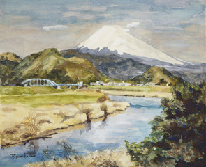 早春の狩野川