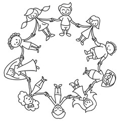 Stock Images Medicine Bottle Spoon Vector Illustration Image13384354 together with Kids Building A Snowman 10677257 moreover Details further Kinderkreis in addition 2014 08 01 archive. on black children playing