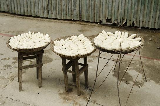 bananas drying in battambang cambodia