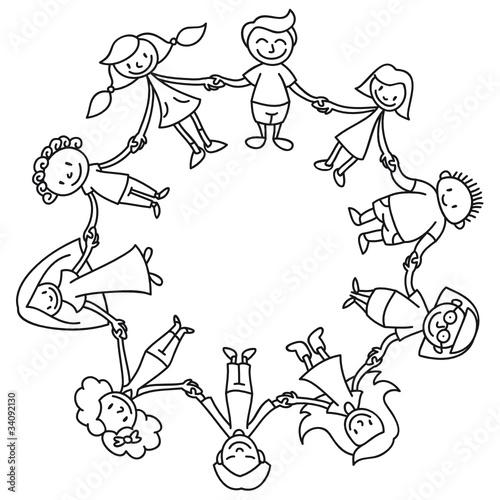 Kinderkreis clipart  Kinderkreis, Ausmalbild