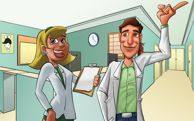 hospital and medics