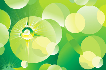 abstract green sparkle background