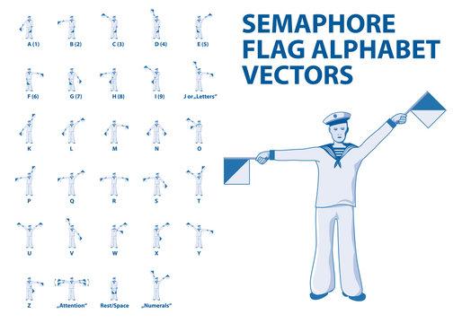 Semaphore Flag Alphabet