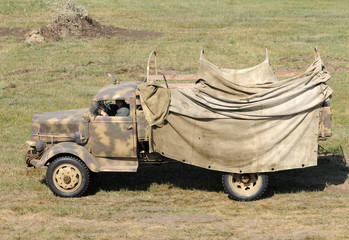 Wall Mural - Old army truck
