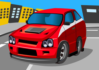 Recess Fitting Cars cartroon racing car five