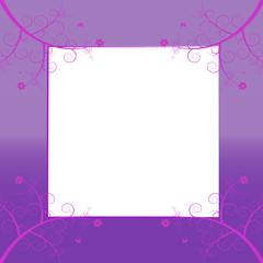 Floral Rahmen Karte pink