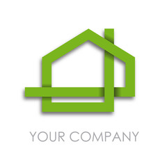 Logo strip house # Vector