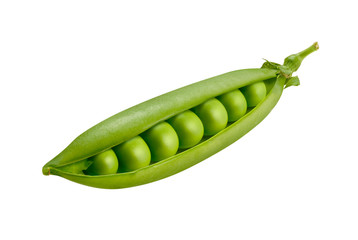 Pea Pod Isolated on White