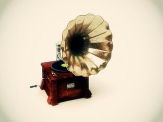 Grammofono antico vintage grounge musica
