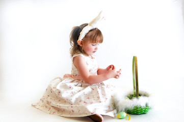 Little Girl With Easter Basket