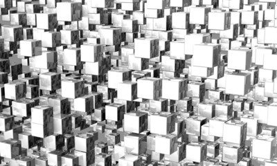 Mega cubes background silver 01