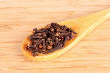 wooden spoon with clove