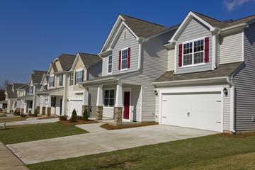 Row of new suburban houses