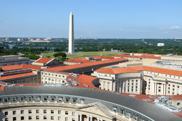 Wall Murals Artistic monument Aerial view on Washington DC