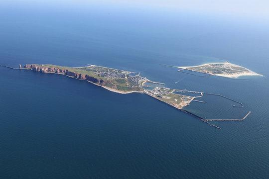 Helgoland Luftaufnahme