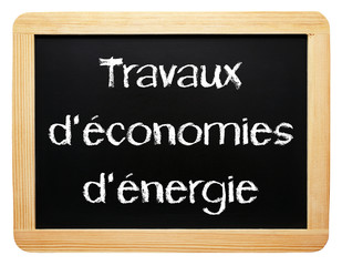 Travaux d'économies d'énergie