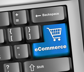 "Keyboard Illustration ""eCommerce"""