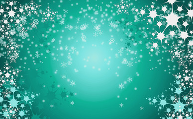 christmas background with snow flakes