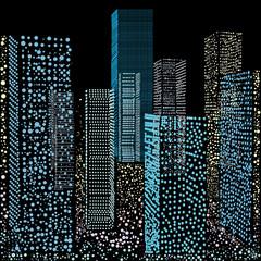 Illustration skyscrapers