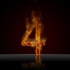 Texteffekt Flammen 4