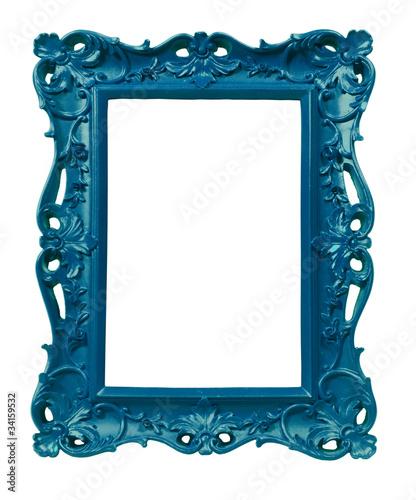 Cadre style ancien baroque bleu photo libre de droits sur la banq - Cadre photo style ancien ...