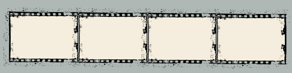 Grunge film frame with space for your image or text - Vector