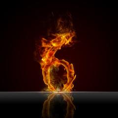 Texteffekt Flammen 6