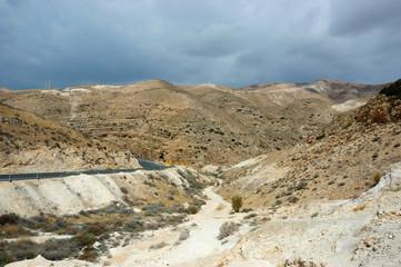 Panorama of Arava desert,Israel
