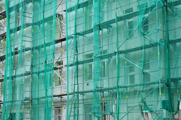 House reconstruction scaffold
