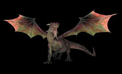 Wall Murals Dragons Red dragon