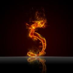 Texteffekt Flammen 5
